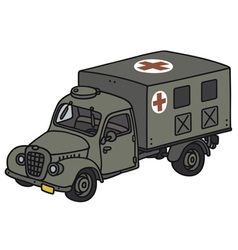Old military ambulance vector