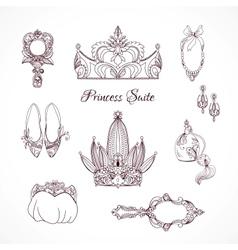 Princess design elements vector