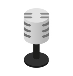 Retro microphone isometric 3d icon vector