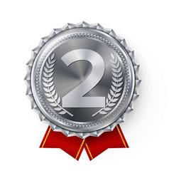 Silver medal best first placement winner vector
