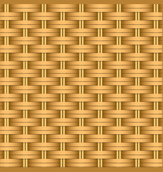 simple woven wicker texture light brown vector image