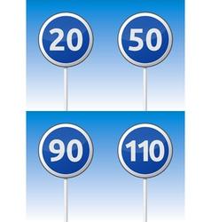Speed traffic road board vector