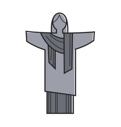 Symbolic christ statue vector