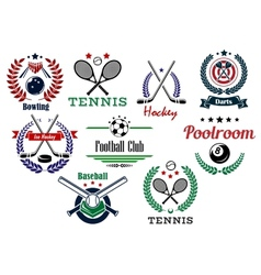 Team and individual sport emblems vector image vector image