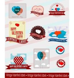 Valentines logos vector image vector image