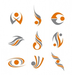 Set of abstract symbols vector