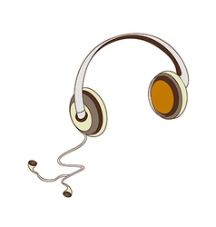 A headphones vector