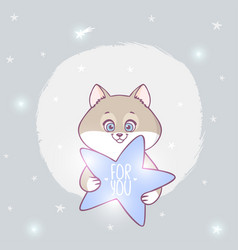 Cat with a star vector