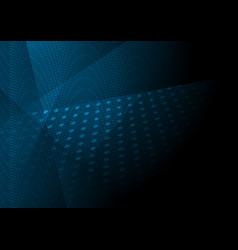Dark blue tech abstract background vector