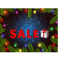 Christmas gift boxes of sale vector