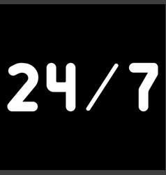 247 service the white color icon vector