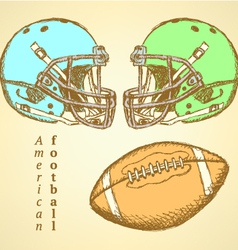 Us helmet ball vector