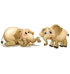 Two playful elephants vector image