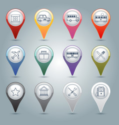 Gps markers set vector