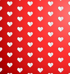 Valentines day polka dot pattern with paper hearts vector