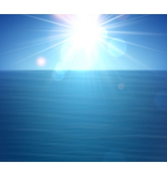 Tropical sunny summer sea vector