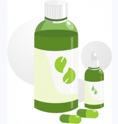 Two bottles and tablets vector