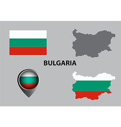 Map of bulgaria and symbol vector