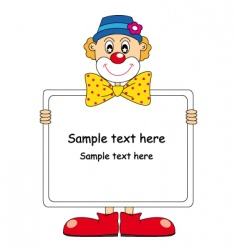 clown text vector image