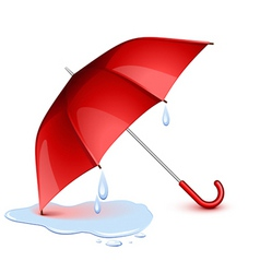 Wet umbrella vector