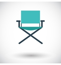 Camping chair vector image