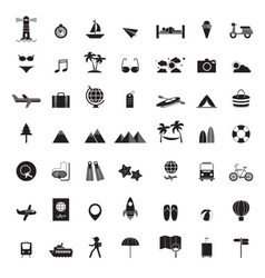 Travel icons all set vector