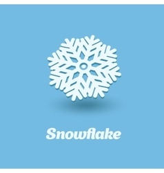 3d snowflake isolated on blue background vector