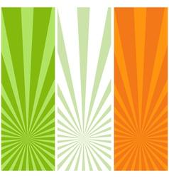 irish flag banners vector image