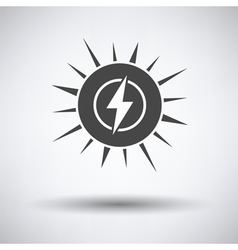 Solar energy icon vector