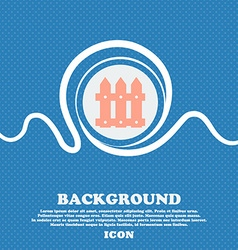 Fence icon sign blue and white abstract background vector
