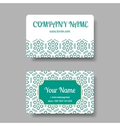 Business card collection with chinese ornament vector