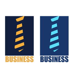 Abstract logo tie and business vector