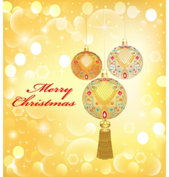 background Christmas with decorative vector image