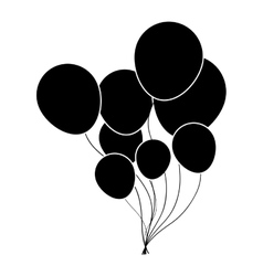 balloons party icon image vector image vector image