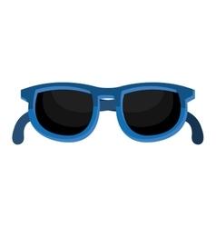 blue sunglasses graphic vector image