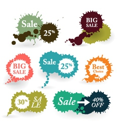 Business Colorful Splashes Labels vector image vector image