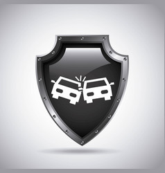 Car insurance concept icon vector
