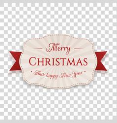 christmas decorative badge vector image