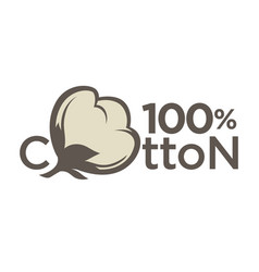 Cotton labels or logo for pure 100 percent natural vector