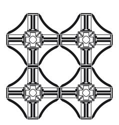 cross tile pattern vector image