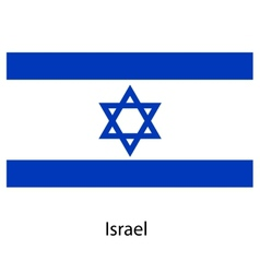 Flag of the country israel vector image
