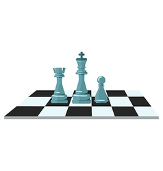 Flat design of chess figures vector image