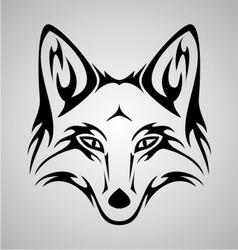 Fox tattoo vector