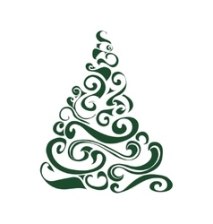 Graphical christmas tree vector