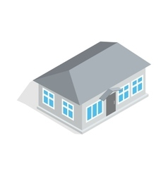 Gray house icon isometric 3d style vector image vector image
