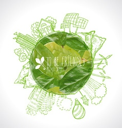 Green Eco Earth Ecology concept vector image vector image