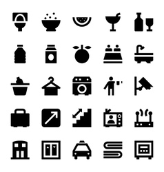 Hotel services icons 5 vector