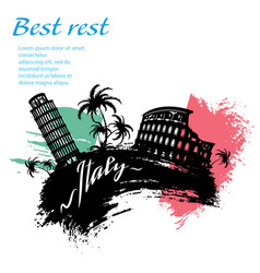 italy travel grunge style vector image