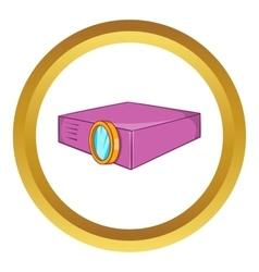 Multimedia projector icon vector