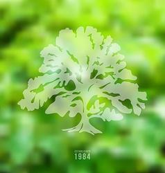 Oak on blurred nature background vector image